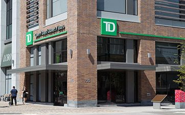 Image showing the front of the TD Bank branch at TD Place