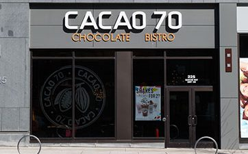 Image of the front of Cacoa 70 Chocolate Bistro at TD Place