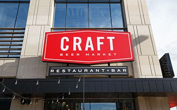 Image of the front of Craft Beer Market restaurant at TD Place