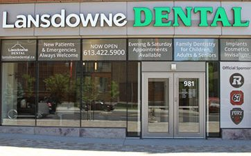 Image of the front of Lansdowne Dental clinic at TD Place
