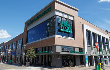 Image of Whole Foods front door at TD Place.