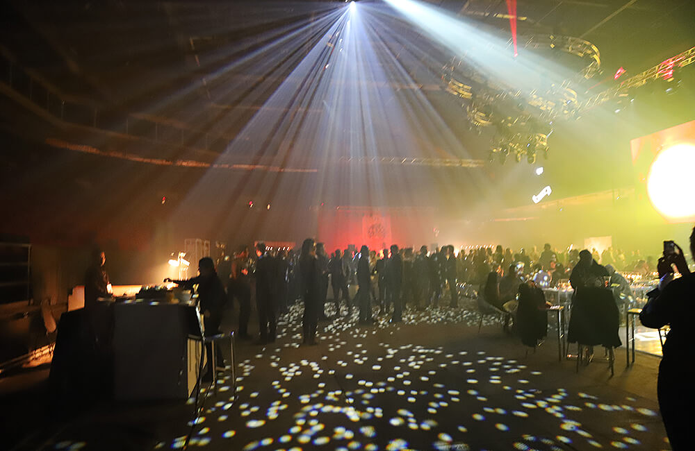 Image of the arena at TD Place set up as a wedding party