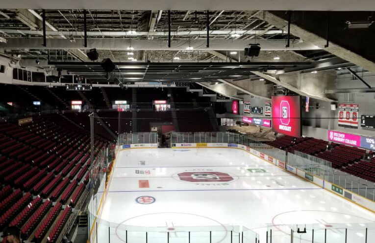 Image of the arena at TD Place from the west side
